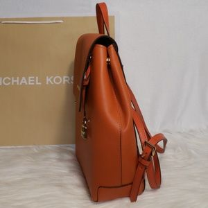 813709fa39cd Michael Kors Bags - Michael Kors Hayes Backpack in PERSIMMON